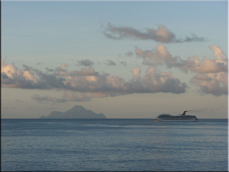 Saba at sunrise